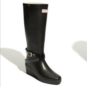 Hunter Black Andora Rain Boot Size 6